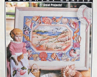 Cross Stitch and Country Crafts Magazine, January/February 1992 Issue