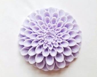 Dahlia Flower Soap 3D: Beautiful Round Flower Soap Bar with 3D Petals, Decorative Floral Guest Soap, You Choose Color & Scent