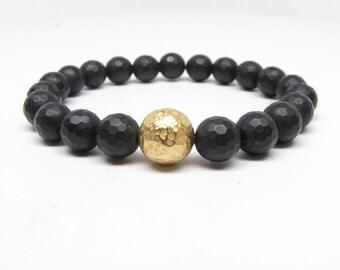 Black Onyx  Unisex Bracelet - Men's Braclet