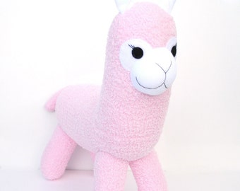 Allegra the Sock Alpaca - pink - READY TO SHIP -  Llama
