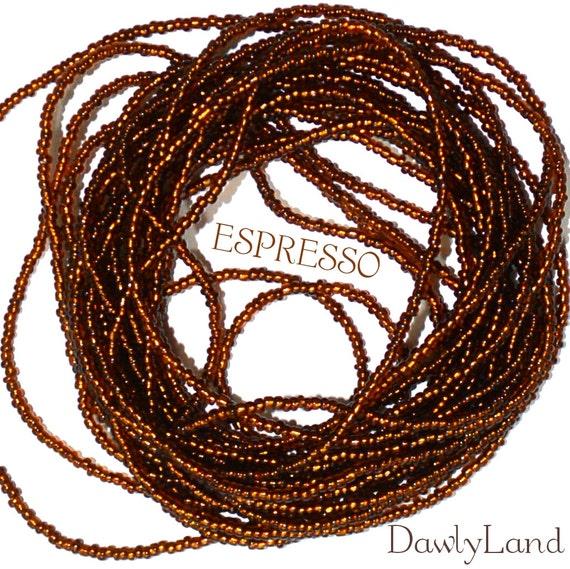 Espresso ~ Waist Beads ~ YourWaistBeads.com
