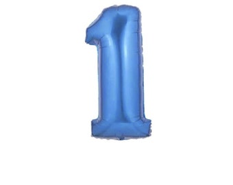 40 Inch Number One Balloon | 1st Birthday Balloon | 40 Inch Blue Foil Number Balloon