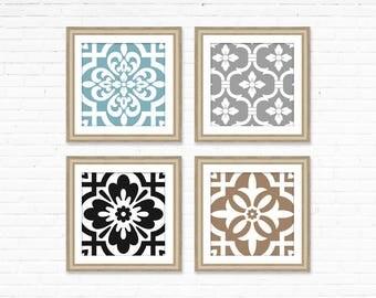 Geometric patterns, geometric prints, modern Art printable, Square art, Design Elements, pattern wall art, modern house decor, tiles design