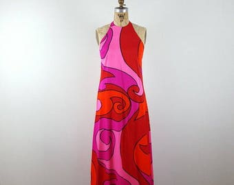 funkita | vintage 1970s maxi dress | vtg 70s maxidress | mod | small/s
