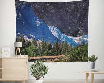 Space Wall Tapestry, Dorm Room Tapestry, Space Tapestries, Mountain Tapestry, Dorm Tapestries, Outer Space Tapestries, Modern Tapestry