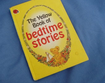 The Yellow Book of Bedtime Stories - Vintage Ladybird Book Early Learning - Matt Covers - 50p