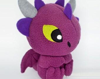 Purple Dragon handmade kawaii plush toy