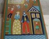"""Berggren Kitchen Plaque Decorative House Blessing Wall Hanging Vintage """"WE Need All The Help We Can Get"""" Wooden PlaqueCirca 1970s"""