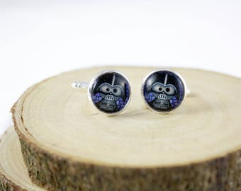 Vader Cufflinks - Gift for Him - Wedding Accessories - Grooms Gift Idea - Father's Day Gift - Darth Vader Cufflinks - Star Wars Cufflinks