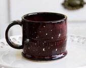 Galaxy Mug - Constellation Gold Nebula Stars - Handmade Pottery Cup - READY TO SHIP