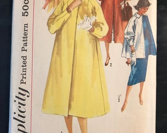 Simplicity 1928 c. 1956; Misses' Coat in Two Lengths (With and Without Hood): Simple-to-Make Size 12