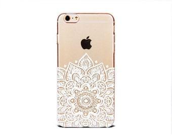 iPhone 8 plus case clear iPhone X iPhone 8 iPhone 7 Plus case white mandala soft silicone iPhone 5se cover - TSW6P018U