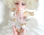 RESERVED for R./Ooak Art Doll  Evangéline ,guardian angel.Handmade