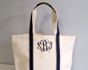 Monogrammed Canvas Tote Bag, personalized women bag, large monogram tote bag, Coral tote bag, womens gift, Bridesmaids gift