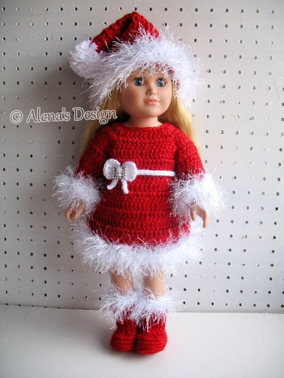 Crochet Pattern 3 Pc Set For 18 Inch Doll Crochet Patterns