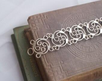 Circular Filigree Sterling Silver Bracelet