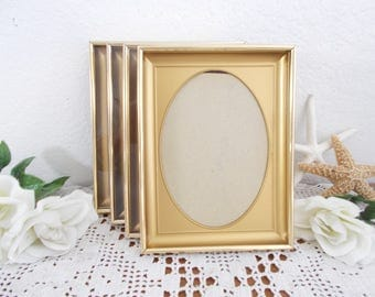 Vintage Oval Gold Metal Picture Frame 5 x 7 Photo Decoration Mid Century Hollywood Regency Country Farmhouse Home Decor Rustic Wedding Gift