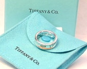 Sale/ Tiffany & Co 925 Sterling Silver 1837 Band Ring with Pouch and Box, Size 6, 1997, Retired Ring
