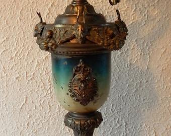 Sale Antique Vintage Victorian Style Ornate Metal Brass Display Urn Ewer Home Decor Interior Design