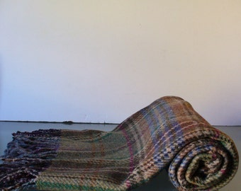 Vintage Ralph Lauren Plaid Wool Wrap Scarf