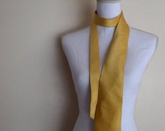 salvation armani vintage silk necktie - yellow silk tie - mens silk necktie - vintage mens formal wear- vintage mens office apparel