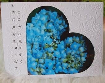 Engagement Congratulations Card,  Romantic Engagement Card, Cute Engagement Card, Card for Couple