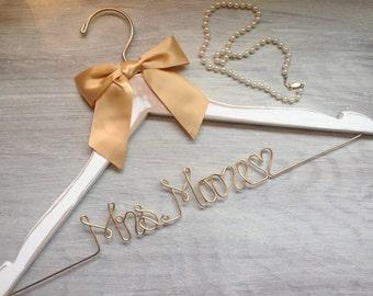 Bridal Shower Gift | Wedding Hanger | Mrs Hanger | Bride Hanger | Gift for Her | Gift for Bride | Bachelorette | Shower Gift | Wedding Dress
