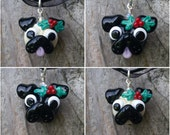 Holly Winter Pug - MADE TO ORDER