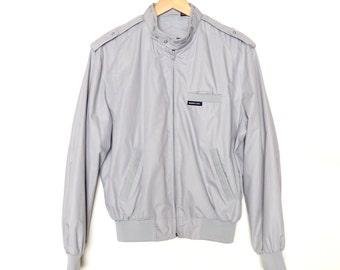Members Only Jacket Size 40 Light Grey Mens Eurocraft Vintage Retro Motor Scooter Small