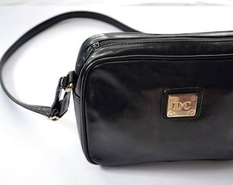 D.C. black vintage black leather bag.