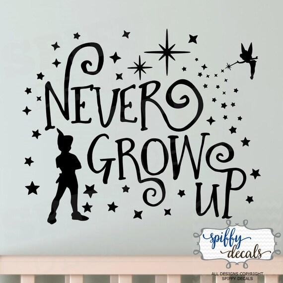 Peter Pan Tinkerbell Never Grow Up Second Star Wall Decal