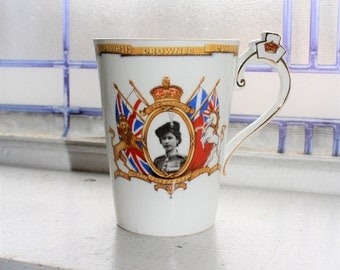 Vintage 1953 Cup Queen Elizabeth Coronation Radfords Bone China