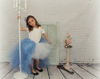 Tutu for Girls trending now high low Alice in wonderland tulle skirt, halloween tutu,Alice in wonderland birthday tutu, sewn tutu