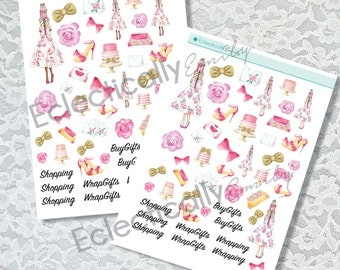Pretty Presents Decoation Stickers  | Fashion Illustration Stickers | Planner Stickers | Stickers for Erin Condren Life Planner