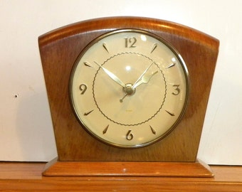 Smiths Vintage Clock - Mantel Shelf Clock-  Recycled 1940s Clock
