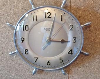 Smiths Clock - Vintage Metal Wall Clock - Battery Wall Clock