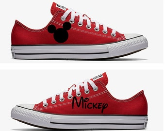 Converse Hand Painted with Mickey Mouse Design