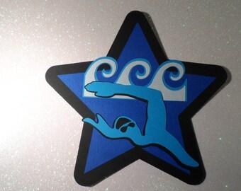 Die cut swim ~ Swim team  ~ locker decoration ~ embellishments ~
