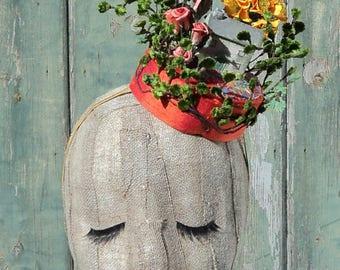 Rebecca's House Garden Pillbox Hat
