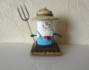 Farmer Midwest Smores Ornament