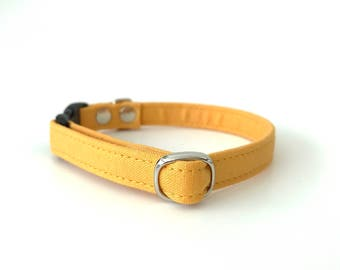 Mustard Breakaway Cat Collar