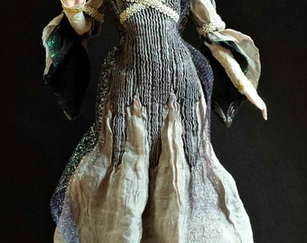 Lucia, A Tall OOAK Hand Sculpted Fantasy Art Doll Collectible