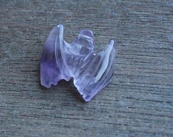 Amethyst Bat Stone Animal Figurine F104