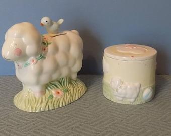 Lamb Bank and Trinket Box