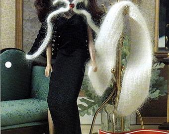 "Winter Warmers  11 1/2"" Doll Crochet Pattern Annies Fashion Doll Crochet Club FC30-04"