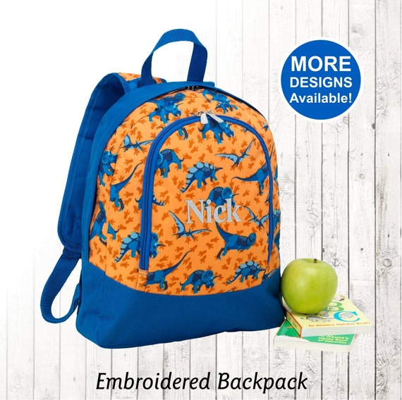 personalized preschool backpacks kids personalized dinosaur backpack toddler backpack embroidered 352