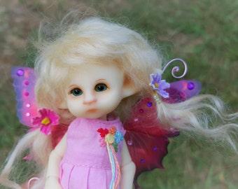 tiny bjd fair skin Mimby   fairy elf fairie full set dressed ready to ship