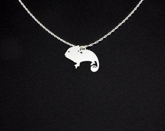 Chameleon Necklace - Chameleon Jewelry - Chameleon Gift
