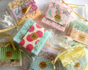12 Wedding Shower Soap Favors:  Bridal Shower or Bridesmaid Gift