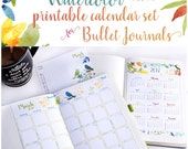 2017 Calendar Printable SET for Bullet Journals and Planners - pdf -Monthly Calendar - Daily Task Tracker - Mini Calendar - INSTANT DOWNLOAD